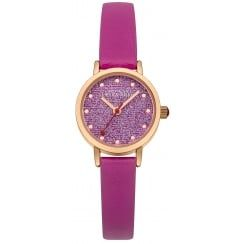 Johnny Loves Rosie Pink Strap Glitter Mini Dial Watch