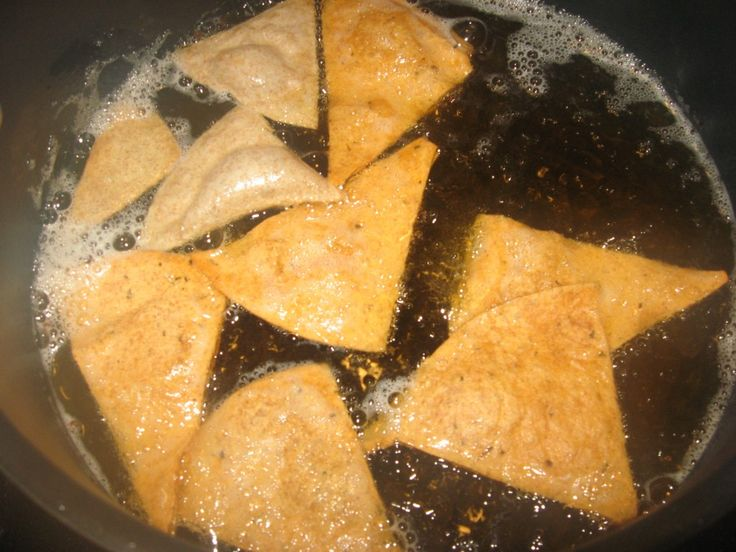 How to make low carb tortilla chips. Easy instructions and photos included.