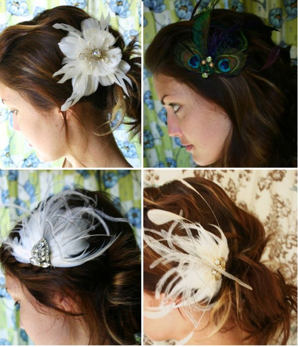 feather hair pieces