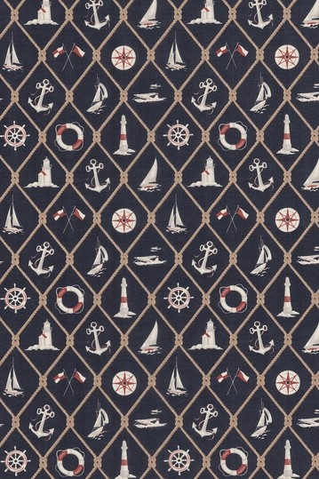 Designer Wallpaper  Ralph Lauren Nautical Motif Navy-White-Beige