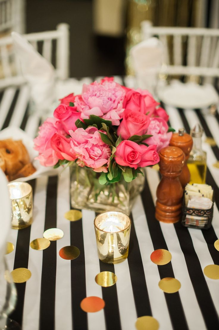 bridal shower themes for spring%0A Kate Spade Bridal Shower Flower Arrangments Fancy Things
