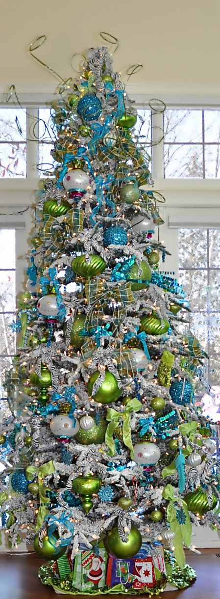 christmas tree blue lime green the house of beccaria see more at http teal christmas decorationsteal - Teal Green Christmas Decorations