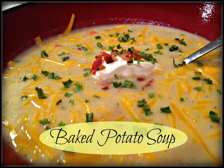 Baked Potato Soup | Baked Potato Soup, Potato Soup and Baked Potatoes