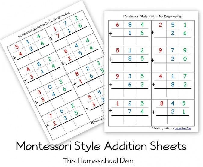 Download Our Free Montessoristyle Math Practice Sheets So Your  Download Our Free Montessoristyle Math Practice Sheets So Your Student Can  Study At Home Anytime  Elementary Montessori Math  Pinterest  Montessori