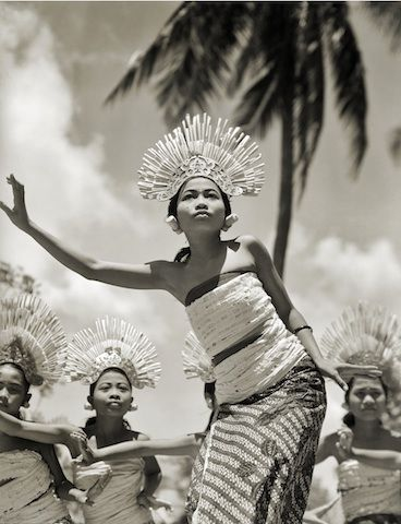 """Young Balinese Djanger Dancer Performs"" Silver gelatin print 1939"