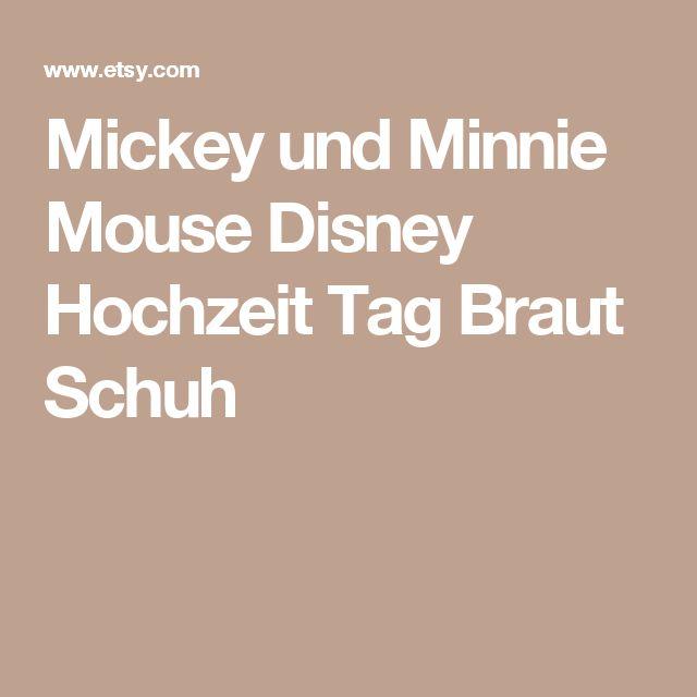 Mickey und Minnie Mouse Disney Hochzeit Tag Braut Schuh