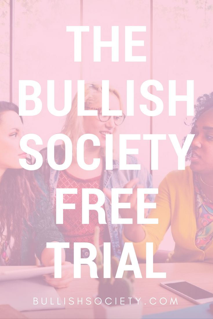 Check out what's coming up in The Bullish Society- FREE TRIAL
