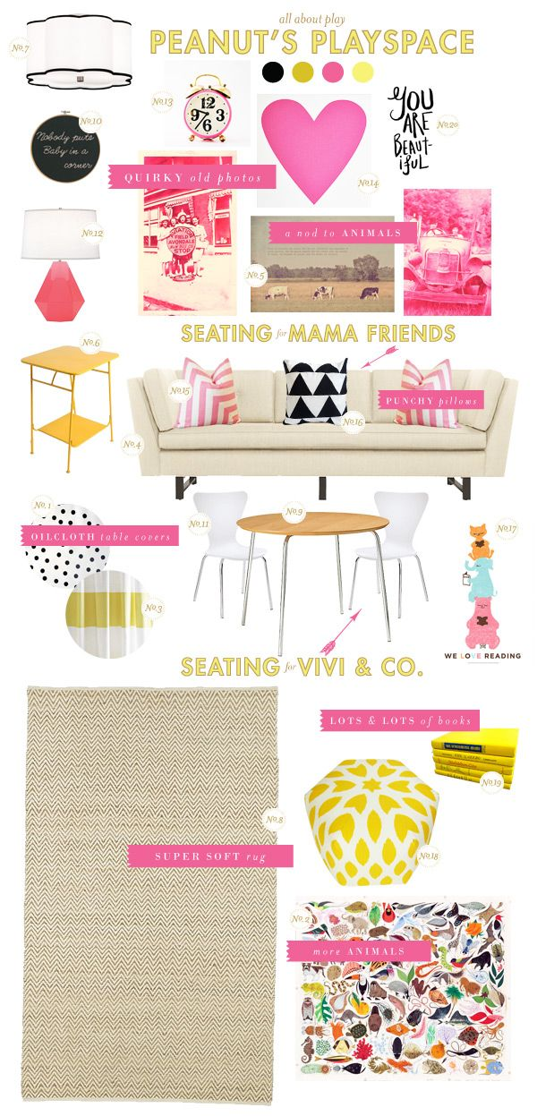 playroom inspiration board @ Jenna Grant - here is the play room I was telling you about!  SO cute