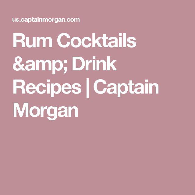 Rum Cocktails & Drink Recipes   Captain Morgan