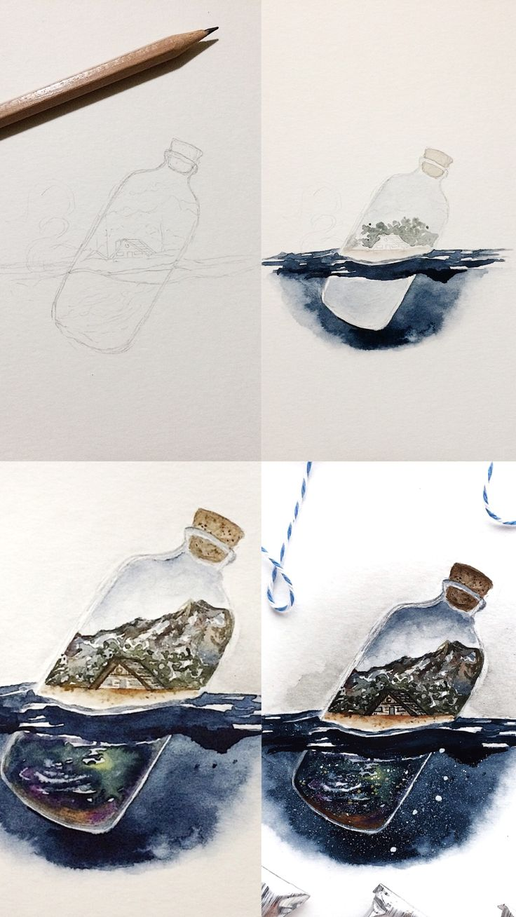 (Rosie Shriver.sketchbook) Process photos of my watercolor illustration. #water…