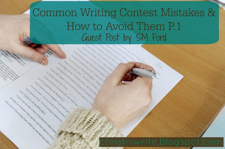 Common Writing Mistakes & How to Avoid Them - Guest Post by SM Ford #amwriting #amediting #writerslife #nanowrimo #writingtips #writingcraft #amblogging #writingcontests #christiswrite http://christiswrite.blogspot.com/2016/08/common-writing-mistakes-how-to-avoid.html