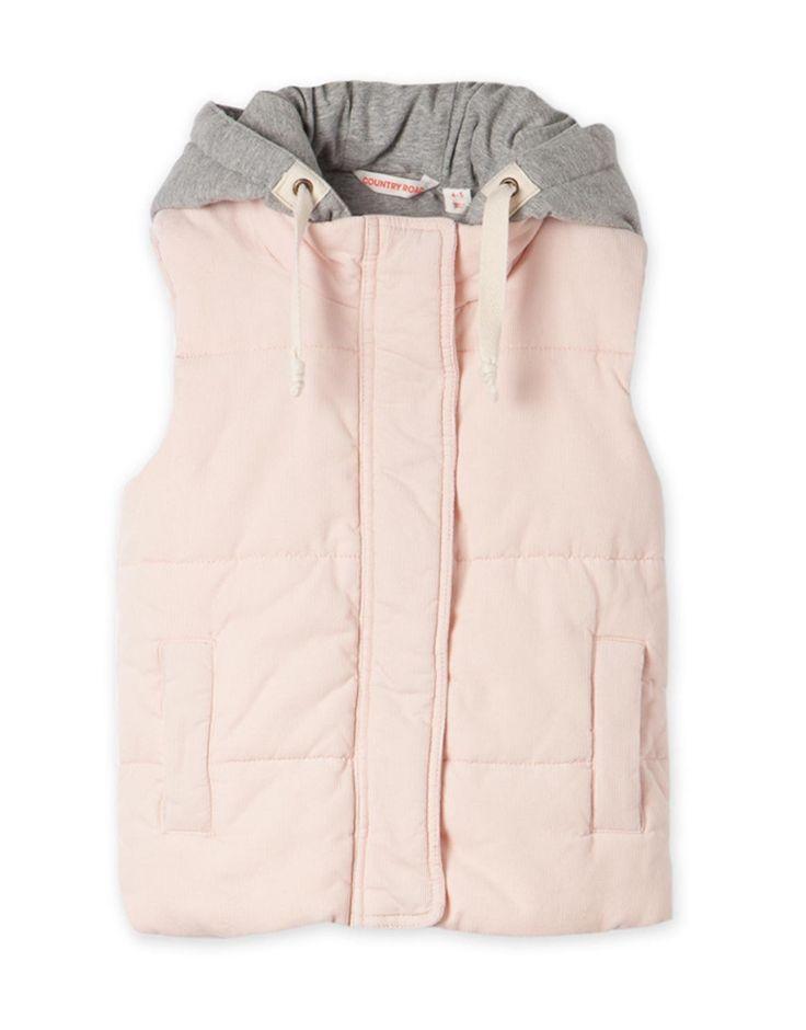 Cord Puffer Vest