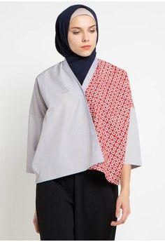 Wanita Baju Muslim Atasan Muslim Blouse Muslim Kimono Batik