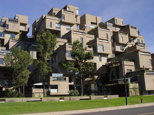 """Moshe Safdie's Habitat 67 (=stacked boxes).. Click on the photo for """"Iconic Legends: The 10 Greatest Modern Architects of Our Time"""""""
