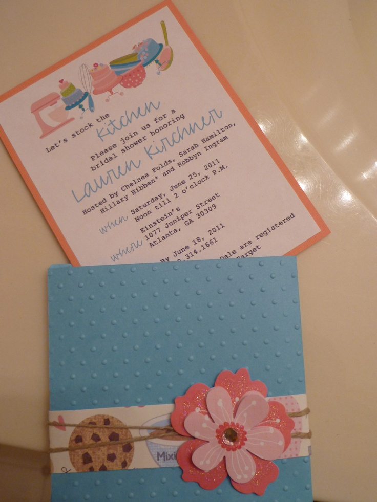 recipe themed bridal shower invitation wording%0A The matching invite to the soap  The Bridal Shower is to be a   Stock