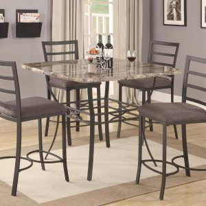tall bistro kitchen table and chairs