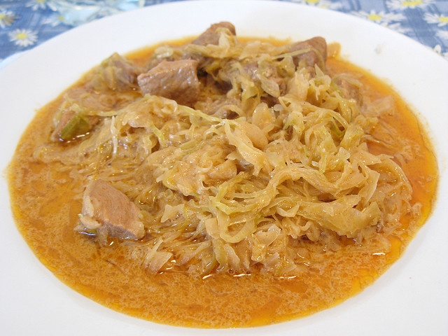 Hungarian recipes Looks just like my Grandma's Pork and Saurkraut! My family never added sour cream to this dish, but it sounds delicious! I LOVE this dish!