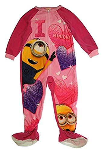 c913681f2 AME Sleepwear DESPICABLE ME I Heart Minions Footed Pajama Blanket ...