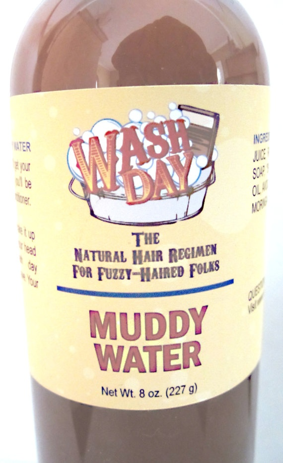 An Ayurvedic Black Castor Oil/African Black Soap shampoo!!!! Muddy Water by napfro on Etsy, $10.00
