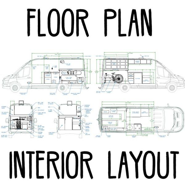 Camper Van Floor Plans Display
