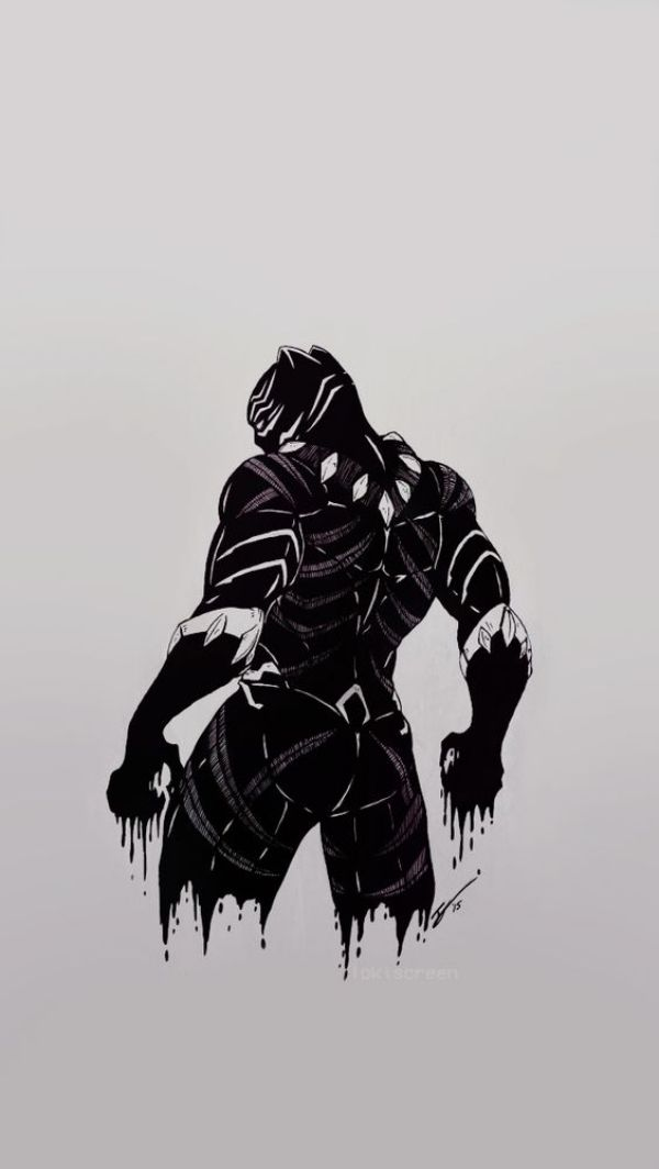 Superhero Wallpapers For iPhone Black panther marvel