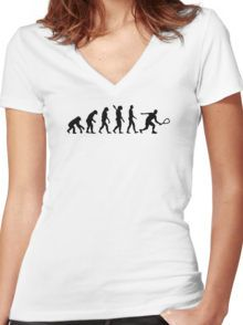 Evolution Racquetball Women's Fitted V-Neck T-Shirt