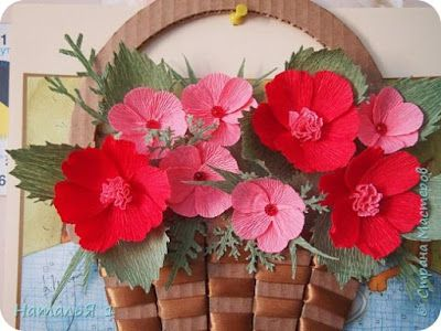 How to make basket of flowers wall art ~ Crazzy Craft