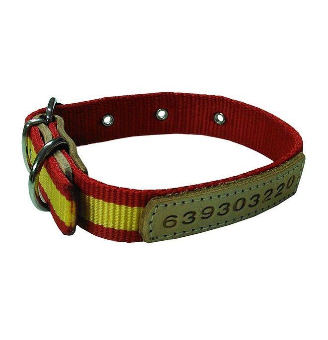 Collar para perro Personalizado Nylon bandera España