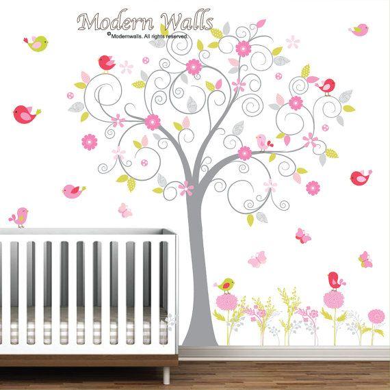 Muur sticker kinderkamer muur stickers boom Decal door Modernwalls