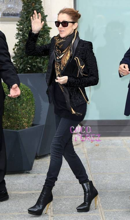 Celine Dion Prettily Preps For Her Concert In Paris!