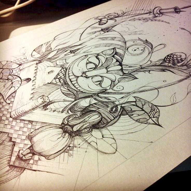 Alice in Wonderland tattoo - very cool