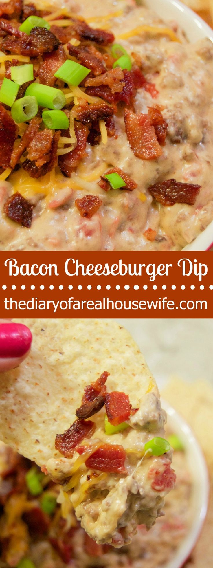I made this last week for game day and I had to share it again! This Bacon Cheeseburger Dip is so good!