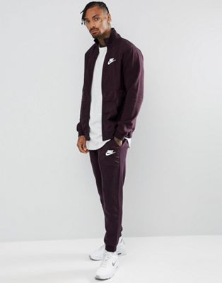 1eef549d69fb85 Nike – Trainingsanzug aus Fleece-Mischung in Violett