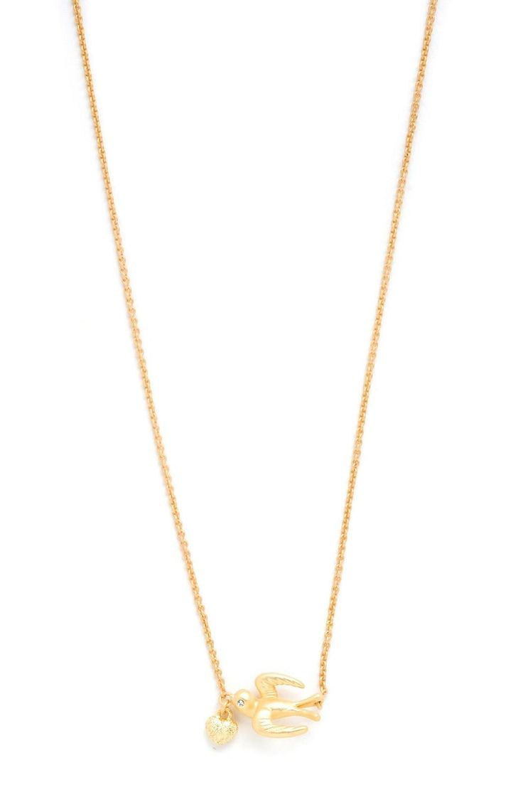 """For sailors, spotting a swallow means land and home is near! Wear this necklace and your heart will always find its way home.    Measures: 16"""" L with 2"""" extender   Follow Your Heart Necklace by Spartina 449. Accessories - Jewelry - Necklaces Omaha, Nebraska"""