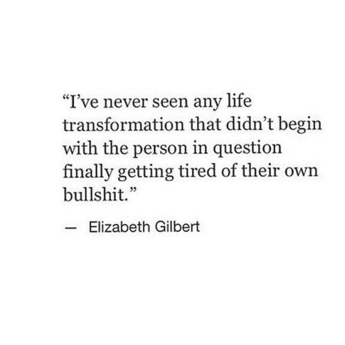 life transformation.