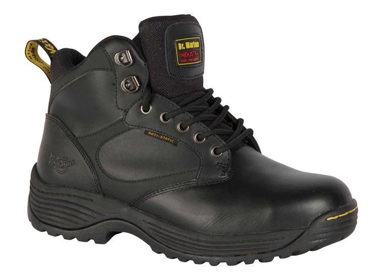 Dr. Martens Industrial Gunaldo - Calzado de protección de cuero para hombre, Negro, 3 uk