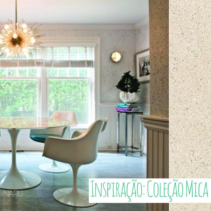 Por que não se inspirar nas dicas da California Home Design de papel de parede texturizado para criar um visual icônico em qualqUer ambiente?  Conheça a coleção Mica