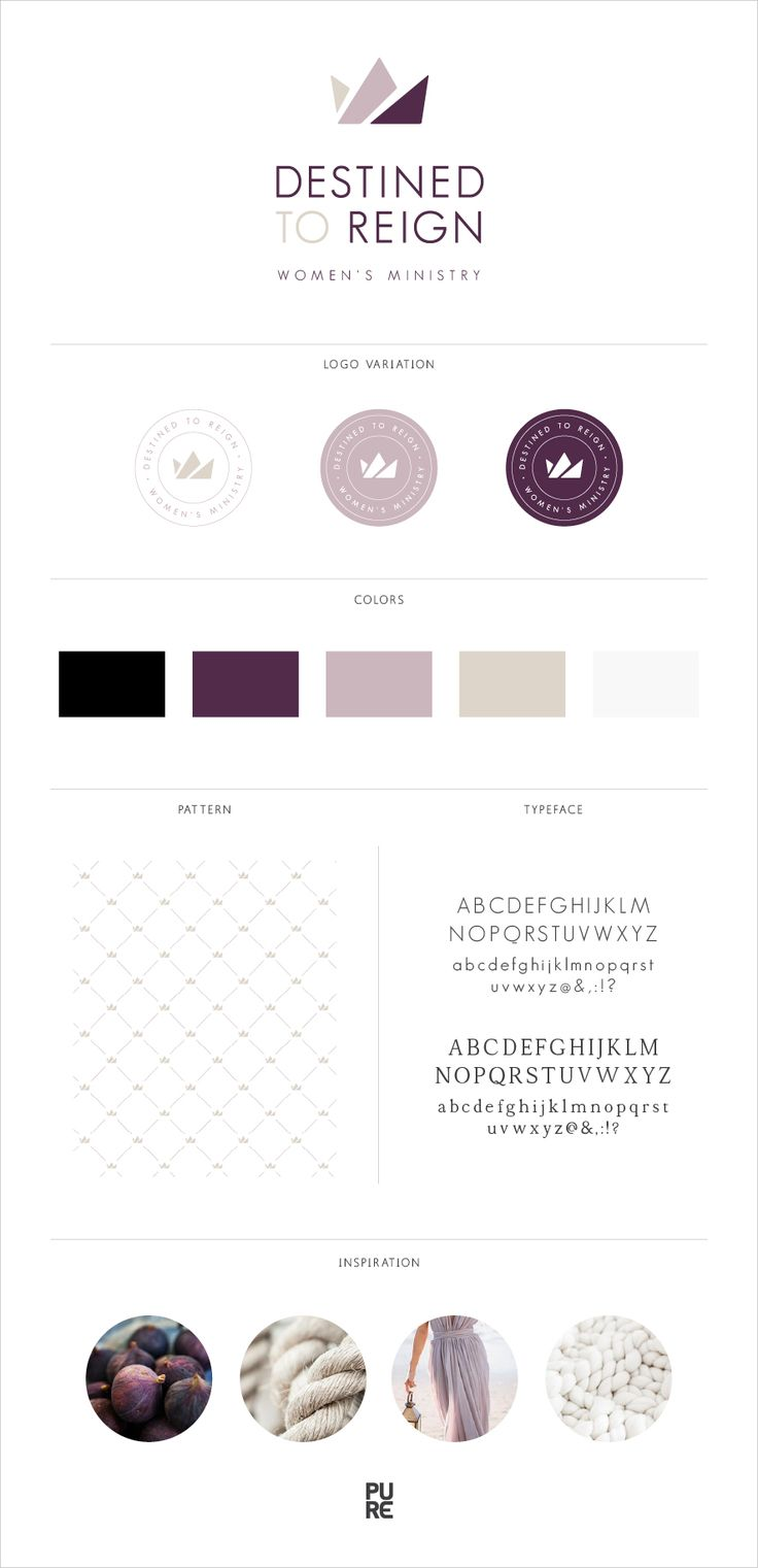 Destined To Reign Logo Design - Crown - Women - Colors: Aubergine, Lavender, Sand, Black, White