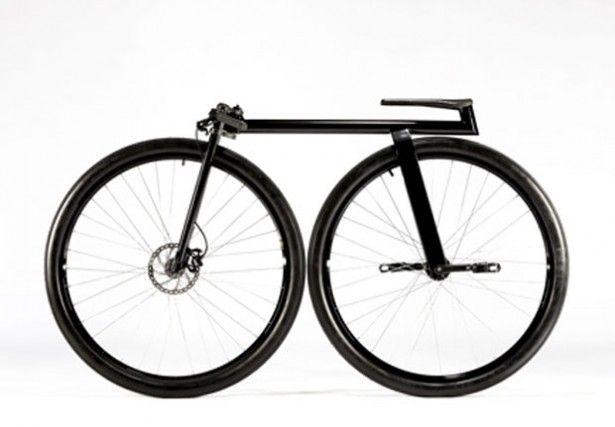 Minimalistische fiets