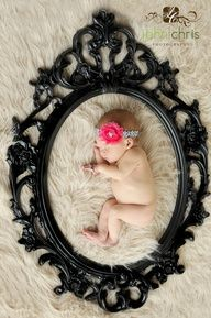 Love this framed baby idea!