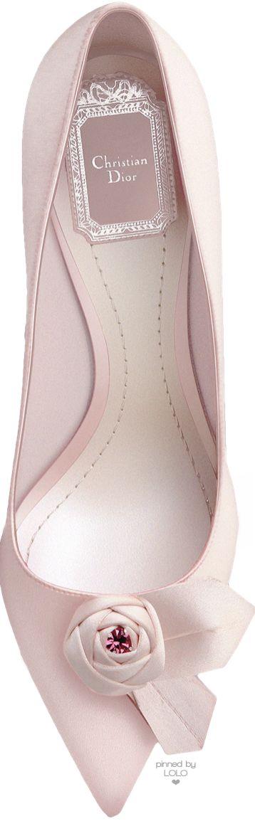 Dior ~ Pink Satin Toe Bow Pump 2015