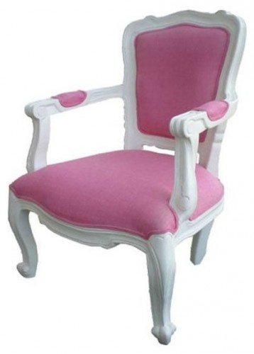 I adore this pink and white Parisian-style chair.