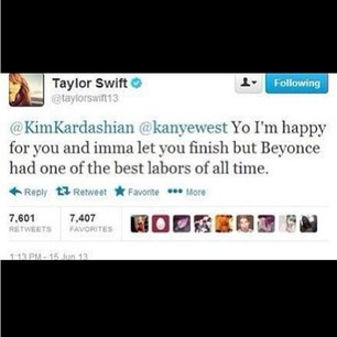 omg, Kim and Kanye just got owned by Taylor Swift