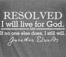 Jonathan Edwards resolutions