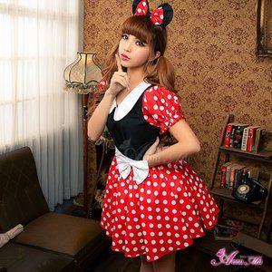 ミニーちゃん風 ディズニー Disney コスプレコスチューム 衣装 z1352 - 拡大画像