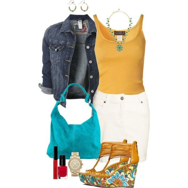 sunshine yellow & ocean blue by enjoytheview on Polyvore