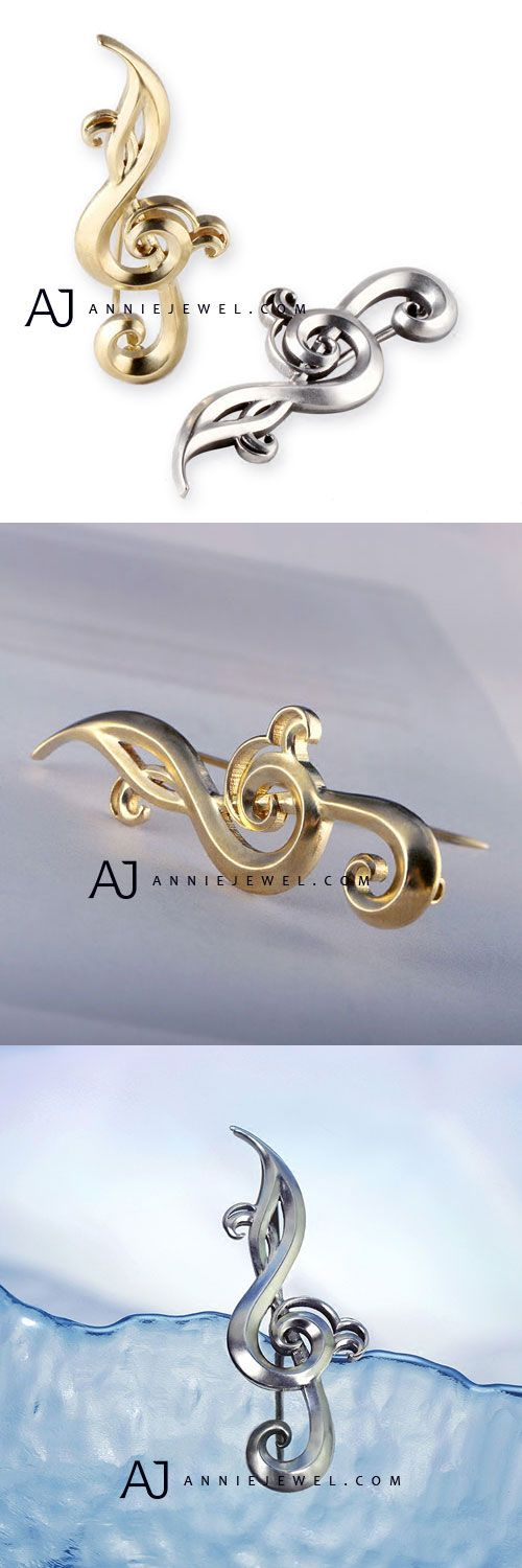 MUST HAVE!! SILVER BROOCH HANDMADE MUSIC NOTES CLIP PINS GIFT JEWELRY