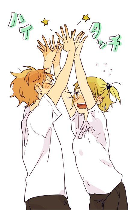 Hinata Shouyou & Yachi Hitoka - Haikyuu!! / HQ!!