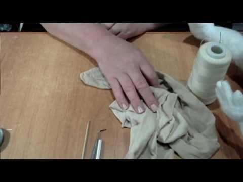 мк по обтяжке  капроновой куклы без швов - YouTube