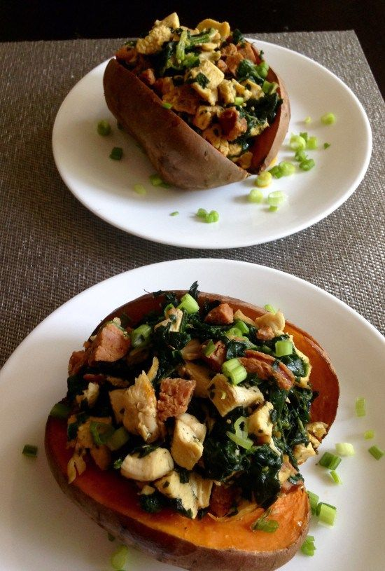 Chorizo and chicken stuffed sweet potatoes - paleo, whole30 @paleorunmomma